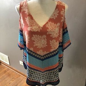 New! Beautiful Open Shoulder Blouse